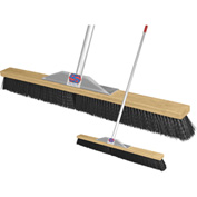 "Super Sweep Inc. 36"" Black Poly Super Sweeper Broom - 1000-108036"