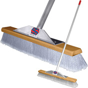 "Super Sweep Inc. 24"" Gray Flagged Super Sweeper Broom - 1000-407024"