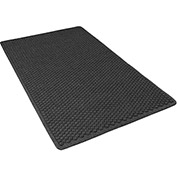 "NoTrax Aqua Trap 3/8"" Thick Entrance Floor Mat, 2' x 3' Charcoal"
