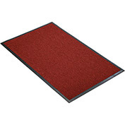 "NoTrax Guzzler 3/8"" Thick Entrance Floor Mat, 2' x 3' Red/Black"