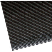 "NoTrax Razorback 1/2"" Thick Safety-Anti-Fatigue Floor Mat, 3' x 12' Black"