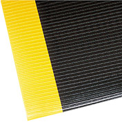 "NoTrax Razorback 1/2"" Thick Safety-Anti-Fatigue Floor Mat, 3' x 12' Black/Yellow"