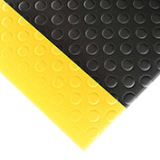 """NoTrax Bubble Sof-Tred 1/2"""" Thick Safety-Anti-Fatigue Floor Mat, 2' x 60' Black/Yellow"""