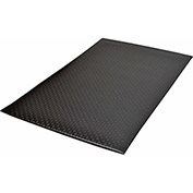 "NoTrax Bubble Sof-Tred 1/2"" Thick Safety-Anti-Fatigue Floor Mat, 3' x 12' Black"