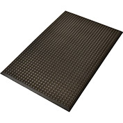 "NoTrax Ergo Evolution 5/8"" Thick Ergonomic Anti-Fatigue Floor Mat, 3' x 5' Black"