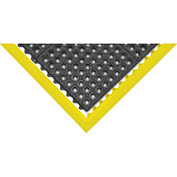 "Akro Grit-Step 5/8"" Thick Anti-Fatigue/Anti-Slip Floor Mat w/Holes, 3' x 3' Black"