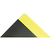 "Akro Diamond-Tuff 9/16"" Thick Anti-Fatigue/Anti-Slip Classic Floor Mat, 4' x 75' Black/Yellow"