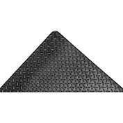 "Akro Diamond-Tuff 9/16"" Thick Anti-Fatigue/Anti-Slip Classic Floor Mat, 2' x 3' Black"