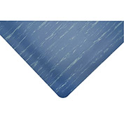 "Akro Marble Tile Top 1/2"" Thick Anti-Fatigue Floor Mat, 3' x 5' Blue"