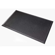 "NoTrax Oct-O-Flex 1/2"" Thick Outdoor Entrance Floor Mat, 2' x 3' Black"