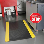 Saddle Trax RedStop Mat - 2' x Custom Lengths Black/Yellow