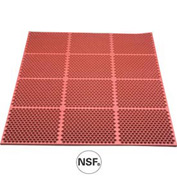 Optimat Safety/Anti-Fatigue Drainage Mat - 3' x 3' - Red