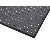 "NoTrax Superfoam Perforated 5/8"" Thick Safety/Anti-Fatigue Floor Mat, 3' x 8' Black"