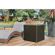 "Suncast BMDB12000 Resin Wicker Outdoor Storage Deck Box 124 Gallon 52-3/4""L x 29""W x 26""H Java"