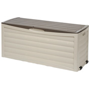 Suncast DB10300 Deck Box with Rollers 103 Gallon