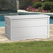 "Suncast DB5000W Outdoor Storage Deck Box 50 Gallon 41""L x 21""W x 22""H Light Taupe"
