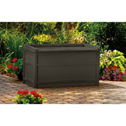 "Suncast DB5500J Outdoor Storage Deck Box with Seat 50 Gallon 41""L x 21""W x 23-1/4""H Java"
