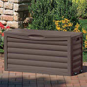 "Suncast DB6300B Outdoor Storage Deck Box with Rollers 63 Gallon 46""L x 18""W x 24""H Mocha"