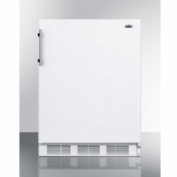 "Summit CT661BIADA - ADA Compliant Built-In Undercounter Refrigerator-Freezer, 5.1 Cu. Ft., 24"" Wide"