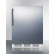 "Summit CT661SSTB - Freestanding Counter Height Refrigerator-Freezer, 5.1 Cu. Ft., 24"" Wide"
