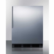 "Summit CT663BSSHV - Freestanding Counter Height Refrigerator-Freezer, 5.1 Cu. Ft., 24"" Wide"