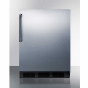 "Summit CT663BSSTB - Freestanding Counter Height Refrigerator-Freezer, 5.1 Cu. Ft., 24"" Wide"