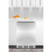 Summit CT66JBISSHH Built In Undercounter Refrigerator-Freezer 5.1 Cu. Ft. White/Stainless Steel