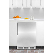 Summit CT66JBISSHV Built In Undercounter Refrigerator-Freezer 5.1 Cu. Ft. White/Stainless Steel