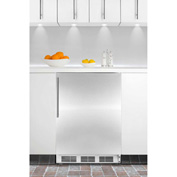 Summit CT66JBISSHVADA ADA Comp Built In Refrigerator-Freezer 5.1 Cu. Ft. White/Stainless Steel
