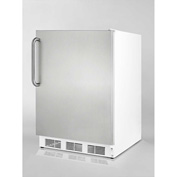 Summit CT66JSSTB Freestanding Refrigerator-Freezer 5.1 Cu. Ft. White/Stainless Steel