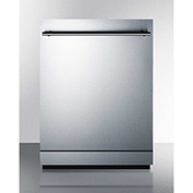 "Summit DW2433SS - Dishwasher, Energy Star, 12 Place Settings, 23-1/2""W x 22-1/2""D x 33-1/2""H, S/S"