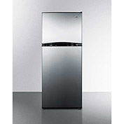 "Summit FF1085SS - Energy Star Frost-Free Refrigerator-Freezer, Stainless Steel, 24""W"