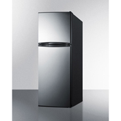 "Summit FF1376SS - Refrigerator-Freezer, Frost-Free, 11.5 Cu. Ft., Black, S/S Doors, 23-5/8""W"