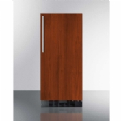Summit FF1532BIF Built-In or Freestanding Refrigerator 3 Cu. Ft. Black/Mahogany