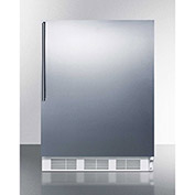 Summit FF61BISSHV Built In Undercounter All Refrigerator 5.5 Cu. Ft. White/Stainless Steel