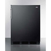 Summit FF63BBIADA ADA Comp Built In Undercounter All Refrigerator 5.5 Cu. Ft. Black