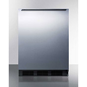 Summit FF63BBISSHH Built In Undercounter All Refrigerator 5.5 Cu. Ft. Black/Stainless Steel