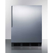 Summit FF63BBISSHV Built In Undercounter All Refrigerator 5.5 Cu. Ft. Black/Stainless Steel
