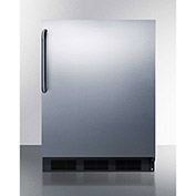 Summit FF63BBISSTB Built In Undercounter All Refrigerator 5.5 Cu. Ft. Black/Stainless Steel