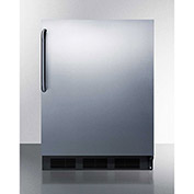 "Summit FF63BCSS - Built-In Undercounter Auto-Defrost All-Refrigerator, Stainless Steel, 23-5/8""W"