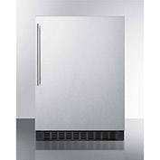 Summit FF64BXCSSHV Undercounter Built In-Freestanding Refrigerator 4.6 Cu. Ft. Stainless Steel