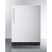 Summit FF64BXCSSTB Undercounter Built In-Freestanding Refrigerator 4.6 Cu. Ft. Stainless Steel