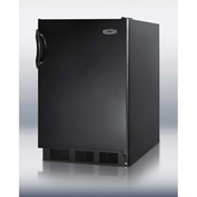 Summit FF6B Freestanding Counter Height All Refrigerator 5.5 Cu. Ft. Black