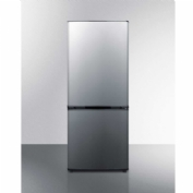 "Summit FFBF101SS - Energy Star Frost-Free Bottom Freezer-Refrigerator, 10.2 Cu. Ft., 24"" Wide"