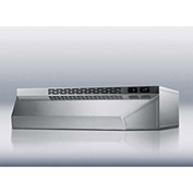 "Summit H1718SS - Range Hood, Ductless, Stainless Steel, 18"" x 18"" x 5"""