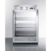 Summit PHC61G Single Chamber Warming Cabinet With Glass Door, Stainless Steel, 5.0 Cu. Ft. Capacity