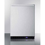 "Summit SCFF53BXSSHH - Frost-free Built-in Undercounter All-Freezer, SS, 4.72 Cu. Ft, 23-5/8""W"