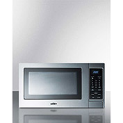 "Summit SCM853 - Microwave, 900 Watts, 0.9 Cu. Ft., Stainless Steel, 14-1/4"" x 18-7/8"" x 11"""