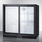 Summit SCR700 - Counter Height Beverage Merchandiser, Two Sliding Glass Door