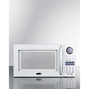 "Summit SM1102WH - Microwave, 1.0 Cu. Ft., 1000W, White, 15-1/2"" x 21-1/8"" x 11-3/4"""